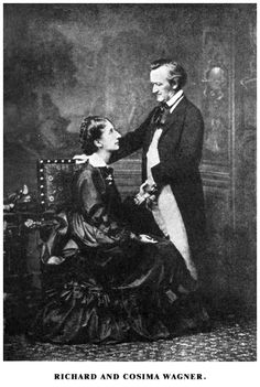 Richard Wagner (1813-1883) and Cosima Wagner, photographed in 1872