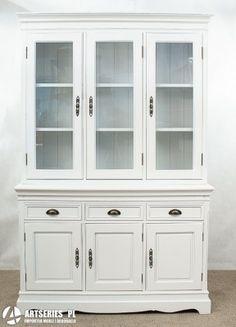 034 Studio 125cm fully glazed dresser three door kitchen dresser