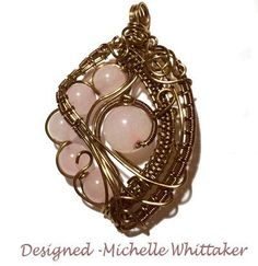 Rose Quartz Wire Weaved Pendant