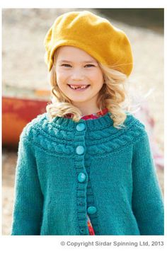 Discover thousands of images about Ravelry: Sirdar Cable Yoke Cardigan - free pattern Knitted Baby Cardigan, Toddler Sweater, Cardigan Pattern, Cable Cardigan, Kids Knitting Patterns, Knitting For Kids, Free Knitting, Crochet Bebe, Knit Crochet