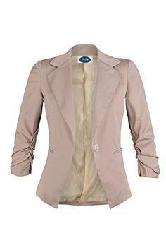 AO Eleganter Damen Blazer Business Casual Jacke Damenjacke Blau Dunkelblau L 40