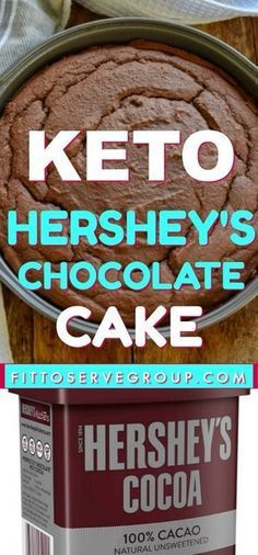 """you doing a keto diet and missing Hershey's """"Perfectly Chocolate"""" cake. -Are you doing a keto diet and missing Hershey's """"Perfectly Chocolate"""" cake. Hershey Chocolate Cakes, Low Carb Chocolate Cake, Keto Chocolate Recipe, Chocolate Chocolate, Low Carb Deserts, Low Carb Sweets, Keto Cake, Desserts Keto, Keto Snacks"""