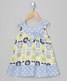 Look what I found on #zulily! Blue & Yellow Floral Yoke Dress - Toddler & Girls by Dress Up Dreams Boutique #zulilyfinds