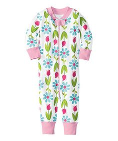 Take a look at this White Flowers Night Night Organic Playsuit - Infant & Toddler by Hanna Andersson on #zulily today!