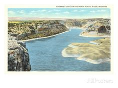 Guernsey Lake, North Platte River, Wyoming Art Print