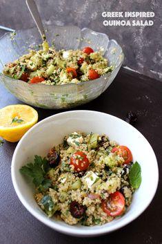 greek inspired quinoa salad (vegetarian)