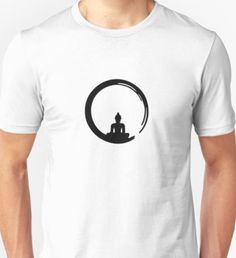 4d180e4113 Enso Zen Circle of Enlightenment, Meditation, Buddha, Buddhism, Japan |  Slim Fit T-Shirt