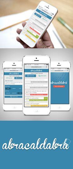 Mobile web design for todo calendar app by Fatal Studio Design Mobile Web Design, App Design, Logo Design, Studio Design, Calendar App, Organization Hacks, Organize, Apps, Tech