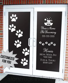 pet grooming salon dog daycare veterinarian business hours decal animal groomer boutique window sticker decor decoration art sticker door delivers online tools that help you to stay in control of your personal information and protect your online privacy.