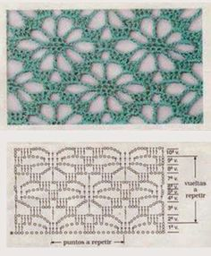 Very beautiful crochet pattern for blouses and scarves