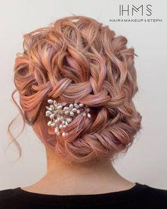 pink hair updo