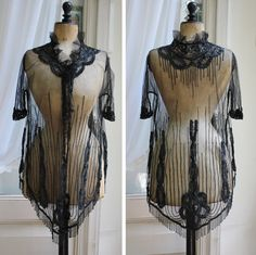 Stunning French antique Edwardian beaded lace blouse/dress by LaChineuseFrancaise on Etsy