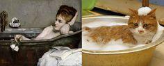 Cats imitating art. Buzzfeed