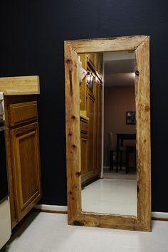 Reclaimed Wood Framed Mirror DIY