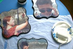 DIY photo project. Great, damask shaped wall art from your photos.