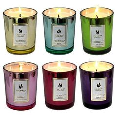 Onlywax Scented Candles 100% Soy Wax Glass, Home Fragrance Candle Gifts.Set of 6