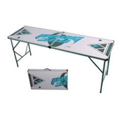 7' Galaxy White Beer Pong Table