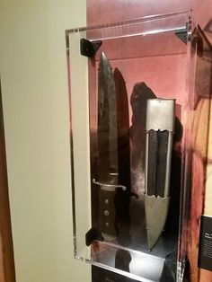 Bowie Knife that belonged to Davey Crockett.  On display with other antique bowie knives at the Historic Arkansas Museum in Little Rock, Ar.