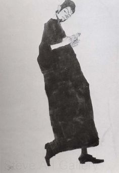 Egon Schiele Male figure from the right