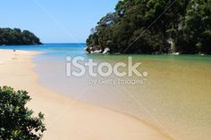 Kaiteriteri, one of the best beaches in the South Island, is a. Deep Photos, Abel Tasman National Park, Kiwiana, Seaside Towns, Turquoise Water, Image Now, New Zealand, National Parks, Royalty Free Stock Photos