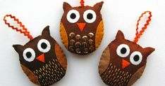Look! I made some owl ornaments! This is a slightly lazy how-to as it's not a new tutorial, but instead a suggestion for adapting ...