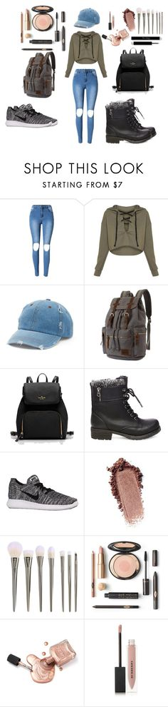 """Teen Style"" by fazion-axxict ❤ liked on Polyvore featuring Mudd, Steve Madden, NIKE and Burberry"