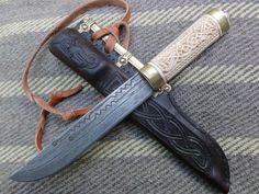 Vendel style eating knife by Petr Florianek.