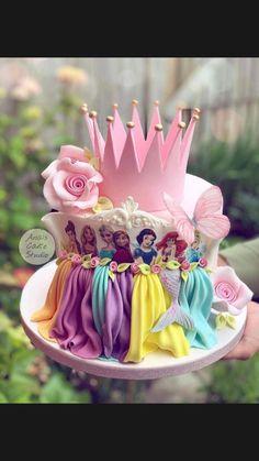 Disney Princess Birthday Cakes, Baby Birthday Cakes, 5th Birthday, Disney Cakes, Cake Pictures, Girl Cakes, Cute Cakes, Cake Art, Party Cakes