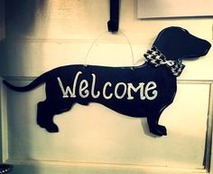 Dachshund door hangerdog door by Furnitureflipalabama on Etsy