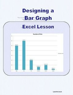 Lesson in Designing a Bar Graph in Excel 2007    This 6-page package is a sequenced description of making a bar graph in Excel 2007. It is meant to give students a positive experience in spreadsheet software.   This is a highly motivational lesson that can be used in a number of ways. In the Computer Lab, it can be used to give your students experience in Excel and use their keyboarding skills to complete a project.   The classroom teacher can integrate technology into their programs. #computer
