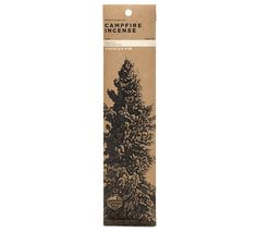 Just the good stuff, for those who cannot make it to the camp or who just like to enjoy it from afar: Douglas Fir Campfire Incense by Juniper Ridge