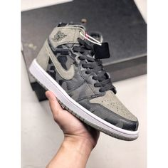 eebf07db79 Aa3993 034 6705j-490700 Air Jordan 1 Premium Camouflage Bracelet Black And  Grey