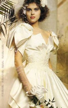80s bridal style
