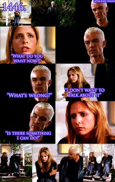 This was just so funny to me, not about her mom, just this part. Spike came to kill Buffy, that's why he has a gun. Even though it would cause him a whole lot of pain he was there to kill her and instead comforts her