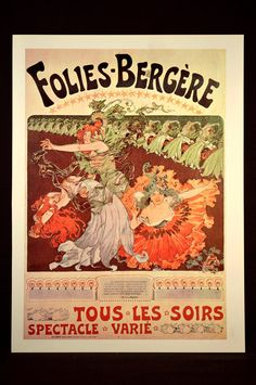 Folies Bergère Poster Paris Can Can Burlesque Print Wall Art