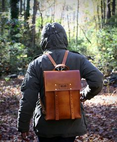 Mifland Rigid Leather Backpack   SOLETOPIA