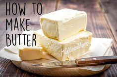 Homemade Butter Recipe + Tutorial - learn how to make butter in your own home. A fun science project for kids and a money saver for mom!