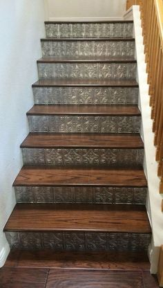 40 The Ultimate Solution for Decorating Stair Risers You Can Find Out About Tod Basement Stairs Decorating Find risers Solution stair Tod Ultimate Stair Renovation, Staircase Makeover, Basement Makeover, Staircase Ideas, Modern Staircase, Grand Staircase, Staircase Design, Basement Stairs, Attic Stairs