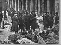 Budapest, Hungary Jewish victims of Arrow Cross men in the court of the Dohány Street Synagogue./Скрещенные стрелы Party  was a Hungarist party led by Фе́ренц Са́лаши which led a government in Hungary  from 15 October 1944 to 28 March 1945. During its short rule, ten to fifteen thousand civilians (many of whom were Jews) were murdered outright, and 80,000 people were deported from Hungary to various camps in Austria