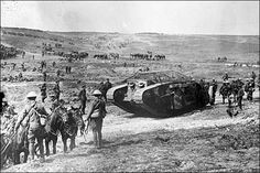 Battle of the Somme. Tanks were used for the very first time on the Somme.