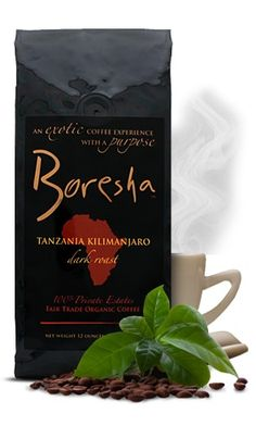 An Exotic Coffee Experience With A Purpose! Perfectly roasted, Boresha's single origin AA Arabica coffee transports you to a lush African landscape rich with its fully developed flavor profiles.  Selected from only the finest growing regions in the world, Boresha Private Estates represents only the finest our Ethiopian, Ugandan and Tanzanian Private Estates can produce. Proprietary infrared roasting technology gently roasts each small batch to perfection.