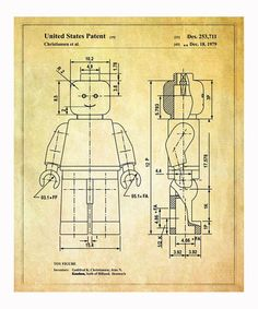 Lego 'Toy Figure' 1979 Art Print   Daily deals for moms, babies and kids