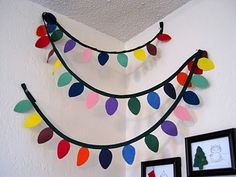 Brilliant Christmas Garland Decorating Ideas – The home of Z – christmas decorations Preschool Christmas, Christmas Crafts For Kids, Christmas Activities, Xmas Crafts, Felt Christmas, Simple Christmas, Winter Christmas, Christmas Holidays, Felt Crafts