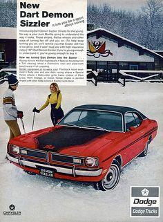 1971 Dodge Dart Demon Chrysler Advertising Hot Rod Magazine March 1971