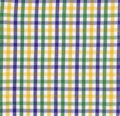 Fabric Finders, Inc. #T62 Purple, Gold, Green Plaid