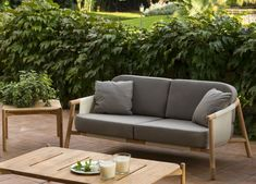 """The Hamp Garden Sofa is part of a new modern outdoor furniture collection for sought after Spanish brand Point. A particular feature of this piece is that the cushions are supported in a """"sling"""" creating an extremely comfortable and relaxing sofa. Outdoor Sofa Sets, Outdoor Decor, Contemporary Garden Furniture, Modern Outdoor Furniture, Modern Patio, Garden Sofa Set, Modern Landscaping, Home Decor, Furniture Collection"""