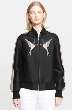 Stella McCartney Embroidered Appliqué Bomber Jacket available at #Nordstrom