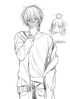 Sachiiro no One Room Anime Drawings Sketches, Manga Drawing, Manga Art, Cute Anime Boy, Anime Art Girl, Anime Guys, Anime Lineart, Onii San, Anime Poses Reference