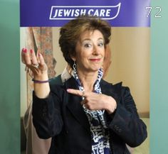 The Jewish Care Purple Thread has found its way on to the wrist of none other than Maureen Lipman!