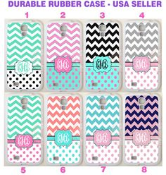 PERSONALIZED POLKA DOTS CHEVRON MONOGRAM CASE FOR SAMSUNG GALAXY S8 S7 S6 NOTE 8 #UnbrandedGeneric